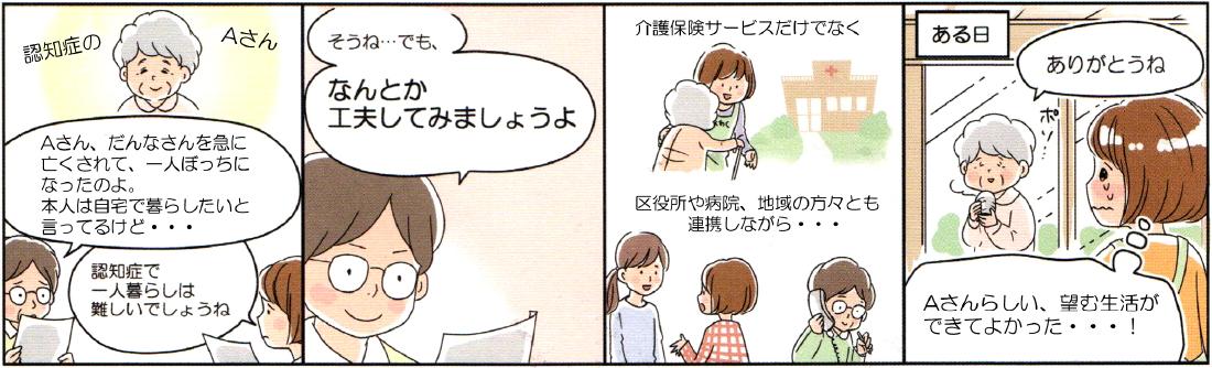 ケアマネジャーについての説明漫画